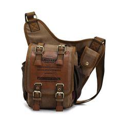 Barato Kaukko marca retro do vintage saco de lona homens messenger bag  homem… Awen · Trendy Mens Bag ecd186d96f4ad