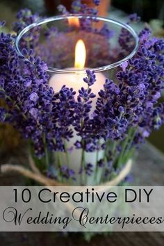 top 10 creative diy wedding centerpiece ideas