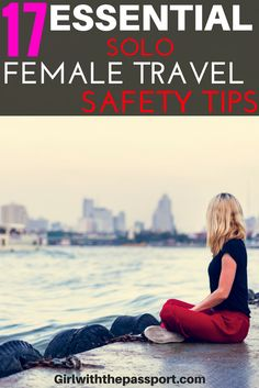 #solofemale #travel can be fun, but it can also be a little scary. If you are a first time solo female traveler, or even an expert, these #safetytips and #travelhacks will help you learn how to stay safe while traveling alone. This, way you can travel the world alone and have an amazing time taking all the sites and attractions across the globe. No need to stress about your #safety with expert solo female travel tips like these.