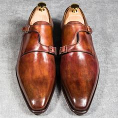 Asymmetrical double monks from Altan Bottier #sundays I want a pair like this for me.