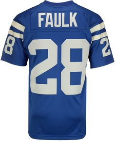 c1ba75dae Mitchell   Ness Men s Marshall Faulk Indianapolis Colts Replica Throwback  Jersey - Blue White S