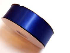 Navy Blue Ribbon, Offray Light Navy Blue Double-Faced Satin Ribbon 1 1/2 inches wide x 50 yards, Full Bolt by GriffithGardens on Etsy