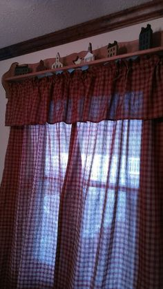 Curtains with primitive houses