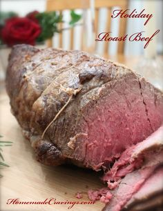Holiday Roast Beef from HomemadeCravings.com