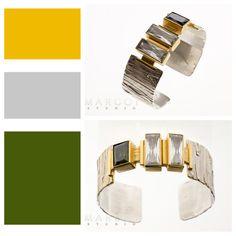Silver bracelet with Swarovski crystals - originally designed accessories avaible in Margot Studio. #silver #bracelet #swarovski #crystals #modern #art #margotstudio #forher #poznań