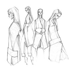 Fashion Sketches - fashion illustration, fashion design drawings // Milan Zejak