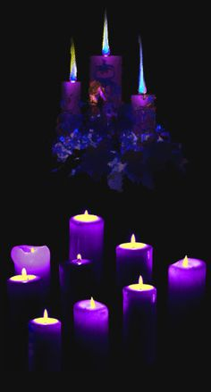 Purple Candles.... always love candles.... this color gives off an aura of spirituality and mystery..... and of course, beauty ️LO