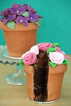 flower pot cake tutorial