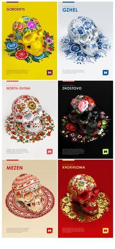 Styles of russian folk painting by Melaamory.deviantart.com on @deviantART