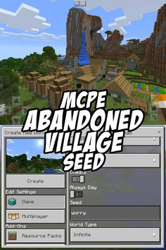 The large zombie-infected village by game spawn has been abandoned by the zombies and all villagers. Seed:worry. 0.15. 0.16+
