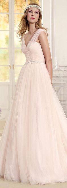 Blush ballgown Wedding Dress by Fara Sposa 2017 Bridal Collection