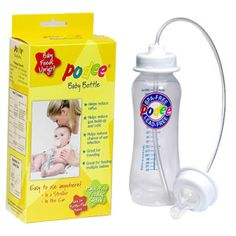 The complete, hands-free system includes an 8-ounce BPA-Free baby bottle and all the necessary parts. It ends dropped bottles and allows for upright feeding to help reduce ear infections and colic.