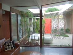 Eichler atriums are one of my favorite features of these homes.