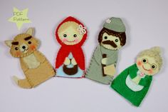 Little Red Riding Hood Finger Puppets Sewing Pattern by PinItArt