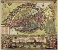 Hamburg 1730, map by J Covens & C Mortier. The University of Hamburg