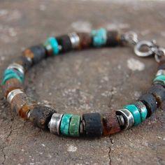 Bracelet Ambre, Amber Bracelet, Gemstone Bracelets, Bracelets For Men, Handmade Bracelets, Jewelry Bracelets, Bracelet Men, Stretch Bracelets, Necklaces