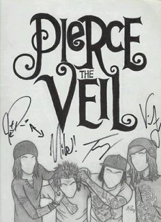Pierce The Veil....awwweeee this is cute! I want it as a poster!