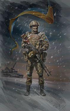 Ukrainian artist. Олег Шупляк  - Блокпост / Oleg Shuplyak - Security checkpoint