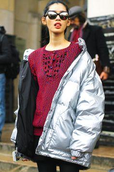 #StreetStyle en la Alta Costura de París, enero 2015 © Iciar J. Carrasco.  I had a coat like this when I was 16, I wish I still had it.