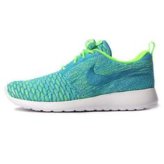 Nike Roshe One Flyknit Womens 704927-304 Electric Green Running Shoes Size 7.5