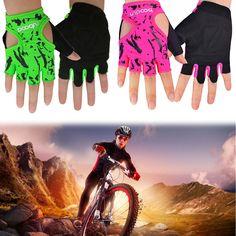 Bodybuilding Fitness Semi-Finger Antiskid Gloves Sports Weight Training Dumbbell #Unbranded #HalfFingerFingerless
