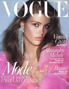 Luna Bijl by David Stone on the cover of Vogue Paris August 2016