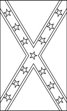 Blackline Flags: Confederate Flag