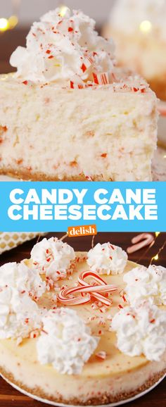 all we want for christmas is this insane candy cane cheesecake get the recipe at - Best Christmas Dessert Recipes