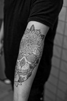 Skull Detailing #tattoo #armsleeve