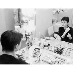 """1953 – During the filming of """"Sabrina,"""" Audrey Hepburn was photographed by Mark Shaw for """"LIFE"""" magazine."""