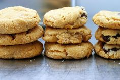 "Peanut Butter Cookies (recipe adapted from the Magnolia Bakery Cookbook) - ""They're crisp on the outside, and almost cakey on the inside. Bake a batch and then hide the results in the furthest and most forgettable reaches of your kitchen. You'll thank me later."""