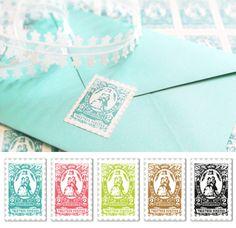 free printable postage stamp image with wedding theme(envelope seals) from JSIM http://justsomethingimade.com/2012/06/wedding-postage-stamps/