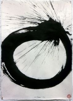 Max Gimblett Hair Knot, 2009 Sumi Ink / Thai Garden Plain Smooth Handmade Paper 30 x 22 inches (76.2 x 55.88 cm)