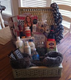 New Mama gift basket! This is a perfect gift to give to a brand new Mom :) Contact amarie1677@gmail.com to order a gift basket for you or your loved ones! https://www.facebook.com/pages/Your-Favorite-Things-Custom-made-gift-baskets/1398610010441823