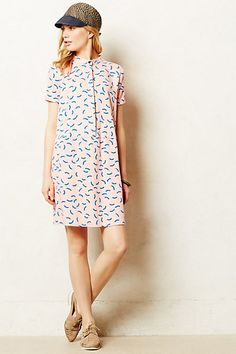 Scattered Curves Shirt Dress #anthropologie