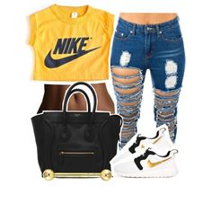 A fashion look from February 2015 featuring NIKE sneakers. Browse and shop related looks.