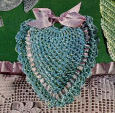 Heart Pin Cushion crochet pattern from Quick to Make Gifts, originally published by Coats & Clark's O.N.T., Book No. 318, from 1955. Recommending to: @Donna Capps @Charity Scantlebury Conley Windham @Tom Pearce Holland @Ruthan Plant