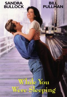 """While You Were Sleeping (1995) Lonely Chicago """"L"""" ticket seller Lucy has fallen in love with a commuter who passes her by every day. On Christmas day, the handsome commuter named Peter falls onto the rails and is saved from certain death by Lucy."""
