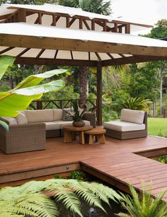 A lush Balinese-style garden hidden in my backyard. Bali Garden, Balinese Garden, Balinese Decor, Tropical Garden, Pergola, Gazebo, Furniture Packages, Outdoor Living, Outdoor Decor