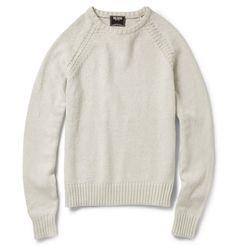 12. Cotton Knit, Chunky rib, raglan or detail sleeve seam (Todd Snyder)