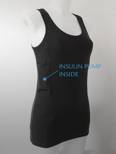 Linne Boxi4 Svart Sport to carry insulin pump, pen, glucose meter, sugar etc. Easy and you need no bag!