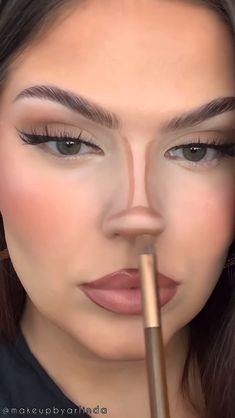 Nose Makeup, Edgy Makeup, Eye Makeup Art, Contour Makeup, Skin Makeup, Eyeshadow Makeup, How To Contour Nose, How To Makeup, Contour Eyes
