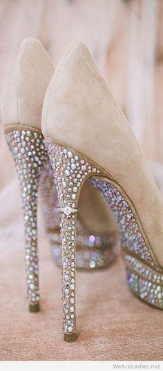 Gorgeous crystal pumps