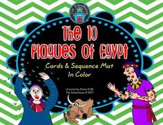 The 10 Plagues of Egypt Cards and Sequence Mat in Color from The-Schoolhouse on TeachersNotebook.com -  (5 pages)  - This is for the 10 Plagues of Egypt with a sequencing mat and cards with multiple uses.  This is the color version.