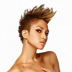 Naima Mora - Mohawk I loved her since the first day on America's Next Top Model tho I never really saw too much of her anytime after that