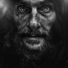 Lee Jeffries - These portraits are breath-taking. High contrast, black and white. Perfection.