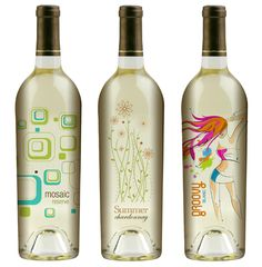 Creative Wine Bottle Art Using Stock Vectors and Images... several more on site. Would be great with bath soaks, etc.