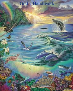 hawaii art | ... of the sea, existing in harmony and peace on Hawaii's coral reef
