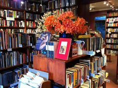A secondhand bookshop with a bar like Sappho Books, Cafe & Wine Bar - Sydney Australia Bookstore Design, Library Design, Sell Used Books, Courtyard Cafe, Book Cafe, Coffee And Books, Cafe Bar, Sydney Australia, Bookstores