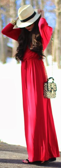 Catch Bliss Boutique Red Maxi Dress by The Sweetest Thing